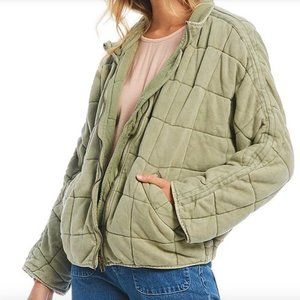 Free People Dolman Quilted Jacket Moss